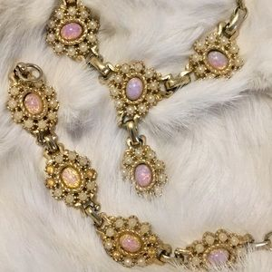 Jewelry - Vintage Opal Necklace and Bracelet Set
